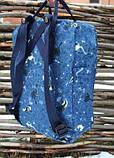 Модный женский рюкзак-сумка канкен синий с рисунками Fjallraven Kanken blue art classic 16 л, фото 7