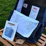 Модный женский рюкзак-сумка канкен синий с рисунками Fjallraven Kanken blue art classic 16 л, фото 9
