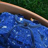 Модный женский рюкзак-сумка канкен синий с рисунками Fjallraven Kanken blue art classic 16 л, фото 8