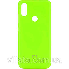Чехол Silicone Cover My Color Full Protective (A) для Xiaomi Redmi Note 5 Pro/Note 5 (Dual Camera) Салатовый / Neon green