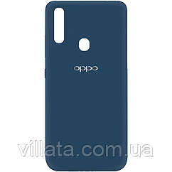 Чехол Silicone Cover My Color Full Protective (A) для Oppo A31 Синий / Navy blue