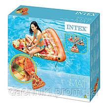"""Матрац Intex 58752 EU """"Піца"""" жовтий, 175 х 145 см, від 12-ти років, фото 2"""