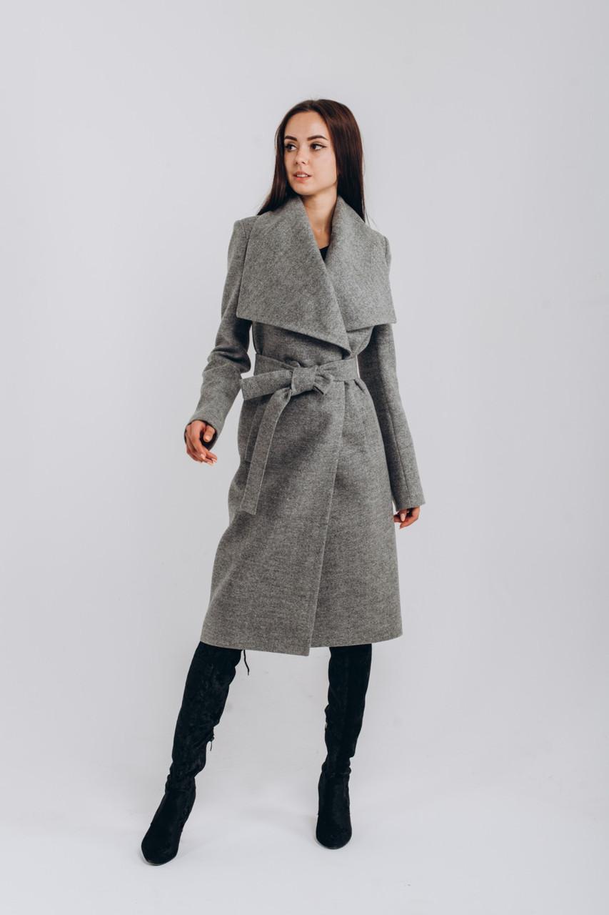 Весеннее пальто серое O.Z.Z.E Д346