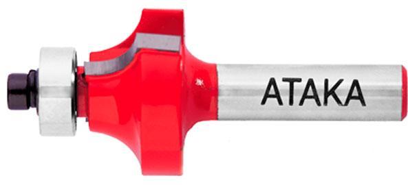 Фреза кромочная калёвочная Атака Ø6xR2мм (590167)