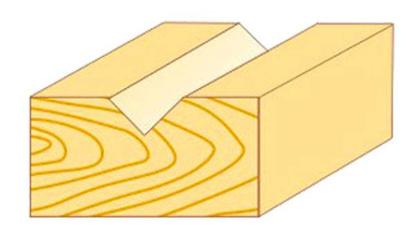Фреза пазовая галтельная Атака Ø8x9.5мм (111095) v - образная, фото 2