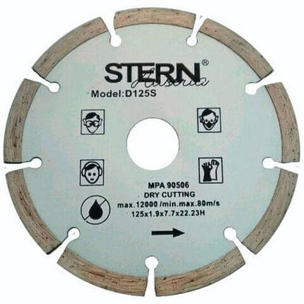 Диск алмазный отрезной Stern 125мм S, фото 2