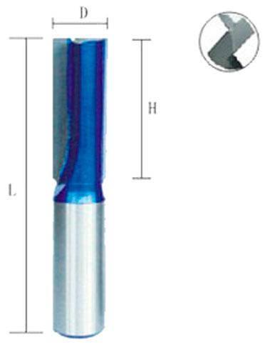 Фреза пазовая прямая Атака Ø12x20мм (022200B-2) с подрезателем, фото 2
