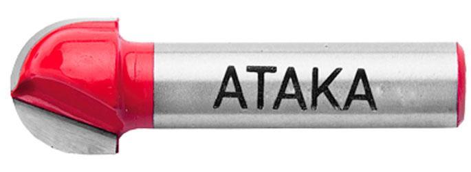 Фреза пазовая галтельная Атака Ø12x12.7R6.35мм (402127)