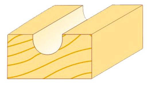 Фреза пазовая галтельная Атака Ø12x12.7R6.35мм (402127), фото 2