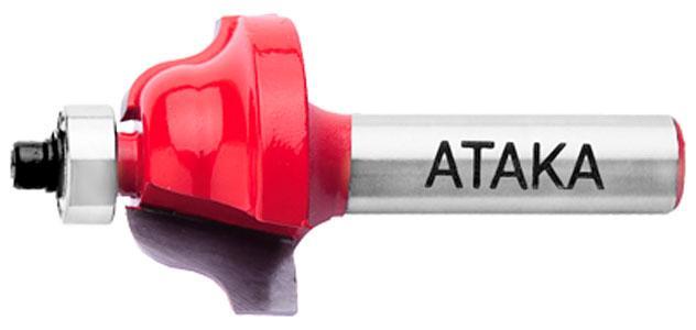 Кромочная Фреза калевочная Атака Ø8xR4мм (411286)