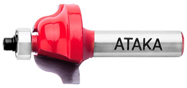 Фреза кромочная калёвочная Атака Ø12xR4мм (412286)
