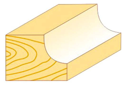 Кромочная Фреза калевочная Атака Ø8xR7.9мм (561285), фото 2