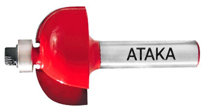 Фреза кромочная калёвочная Атака Ø12xR6.35мм (562255)