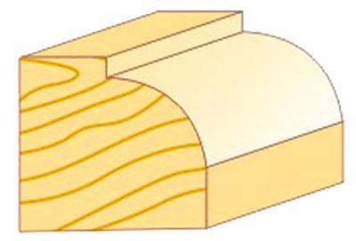 Фреза кромочная калёвочная Атака Ø8xR4.8мм (591222), фото 2