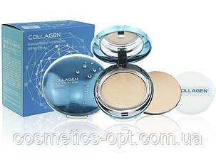 Увлажняющая премиум-пудра с коллагеном ENOUGH Collagen Premium Hydro Two Way Cake SPF50+ PA++ №21 (12g + 12g)