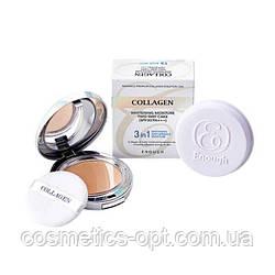 Кушон с коллагеном Enough Collagen Whitening Prism Air Cushion 3 in 1 SPF50+ PA+++, ТОН 21
