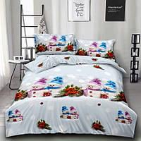 """Комплект постельного белья 3D MILANA """"Снеговики"""" 2-спальный"""