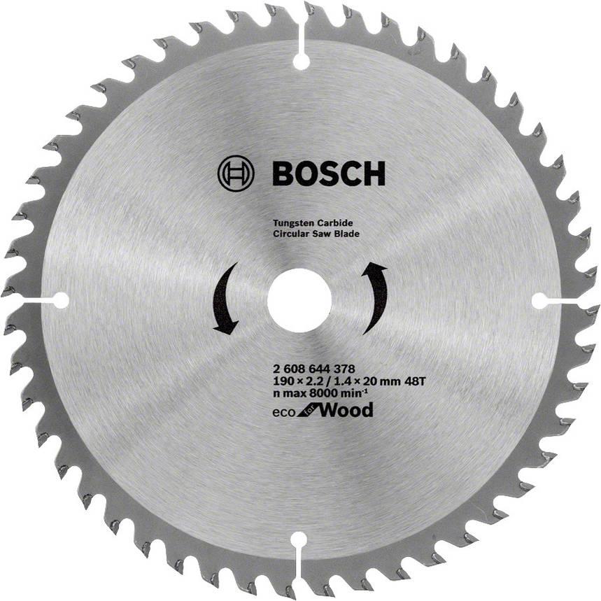 Диск пильный Bosch 190x48x20 по дереву, фото 2