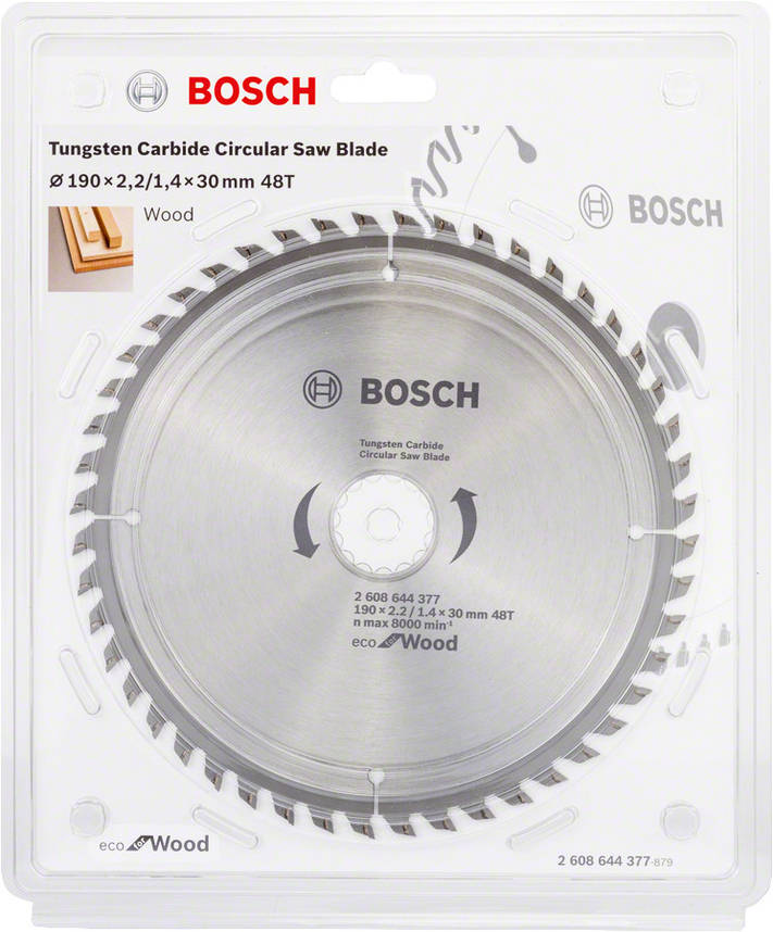 Диск пильный Bosch 190x48x30 по дереву, фото 2