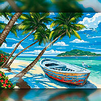 Алмазная вышивка мозаика The Wortex Diamonds Тропический остров 40x50см TWD30021L полная зашивка квадратные, фото 1