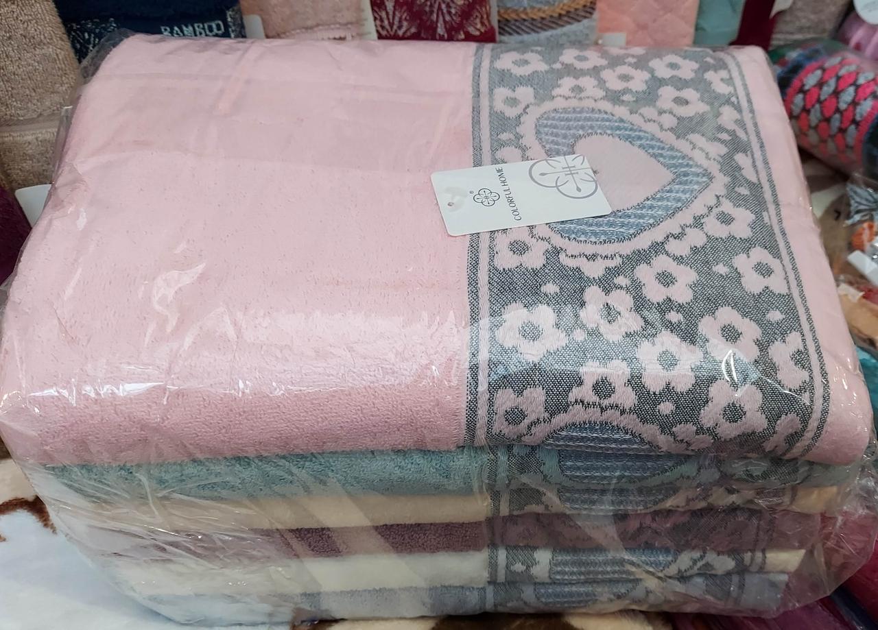 Банные махровые полотенца «Валентинка» (6 шт)