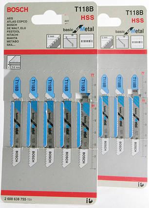 Пилочки для электролобзика Bosch T118B (5шт.), фото 2