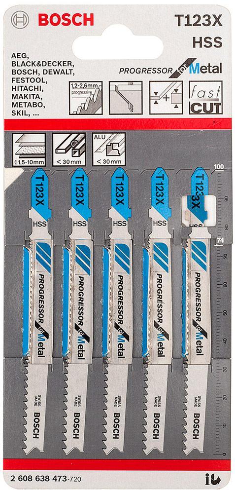 Пилочки для электролобзика Bosch T123A (5шт.)
