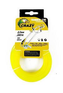 Леска для триммера Crazy Ø2.0мм (15м.)