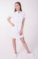 Медицинский халат Невада белый/красный, фото 1