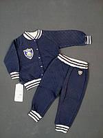 Костюм для мальчика кофта+штанишки GABBI КТ-04-18 Монстрики 80см тёмно-синий арт.11424