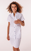 Медицинский халат Невада белый/синий, фото 1