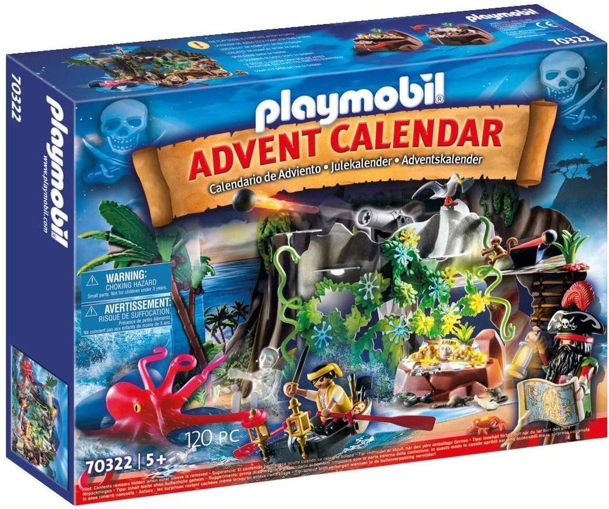 Playmobil Advent Calendar Плеймобил адвент календарь Остров Сокровищ  70322 Pirate Cove Treasure Hunt Advent