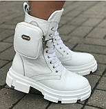 Ботинки женские зимние из натуральной кожи белого цвета от производителя модель ЛИН1010, фото 2