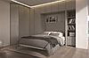 Шкаф-кровать-трансформер в стенке с декоративным освещением