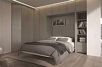 Шкаф-кровать-трансформер в стенке с декоративным освещением, фото 1