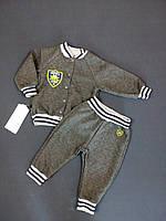 Костюм для мальчика кофта+штанишки GABBI КТ-04-18 Монстрики 68см темно серый арт.11424