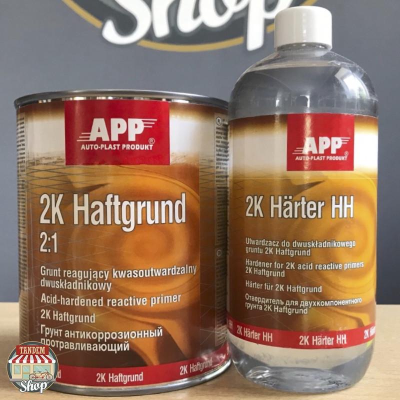 Грунт протравливающий антикоррозионный APP 2K Haftgrund 2:1, 1 л + 500 мл комплект