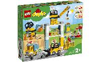Конструктор LEGO DUPLO Подъемный кран и строительство 123 детали (10933)
