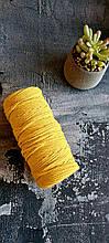 Шнур премиум коттон 4мм Жёлтый