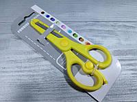 Ножницы с ограничителем и защитой лезвия,№6022-1, канцелярские, детские ножницы, фото 1