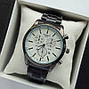 Мужские наручные часы Tissot (тисот) на браслете, черные с белым циферблатом, дата - код 1854