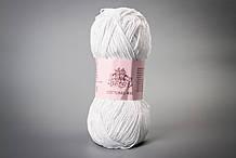 Пряжа хлопковая Vivchari Cottonel 400, Color No.2001 белый