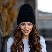 """Вязанная шапка """"Эмили"""" цвет черный"""