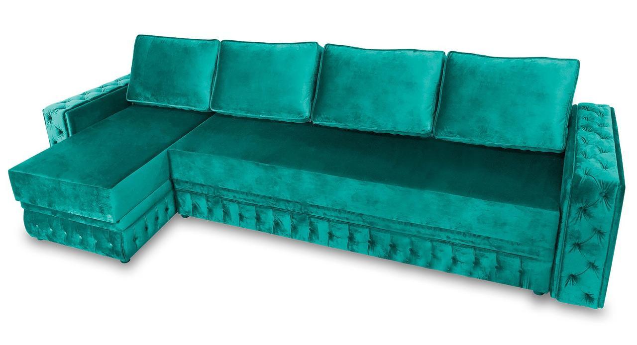 Угловой диван Рим (тройной) фабрики Бис-М с каретной стяжкой