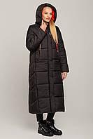 Синее зимнее женское пальто - куртка Сандра модного покроя тм MioRichi размеры 44- 54