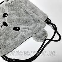 Рюкзак меховой на затяжках, фото 2