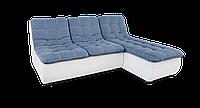 Угловой модульный синий диван  Орлеан фабрики Нота с оттоманкой, фото 1