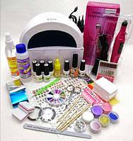 Стартовый набор для покрытия гель лаком Vegas с декором для ногтей