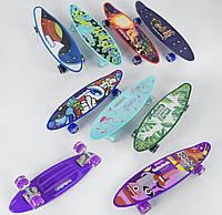 Скейт Пенни борд C 40310 (8) Best Board, 6 ЦВЕТОВ, СВЕТ, доска=59см, колёса PU d=6