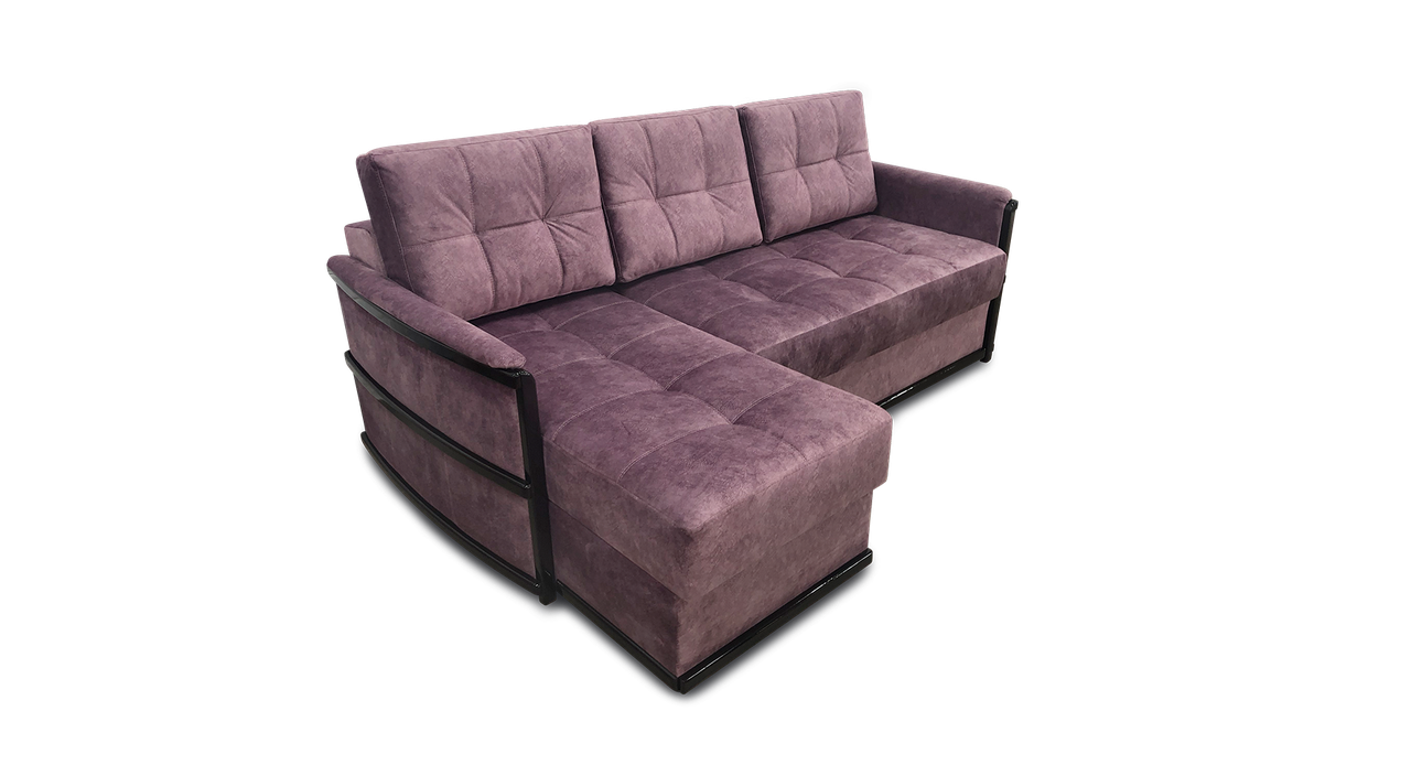 Угловой коричневый диван Тина 1 фабрики Нота с оттоманкой